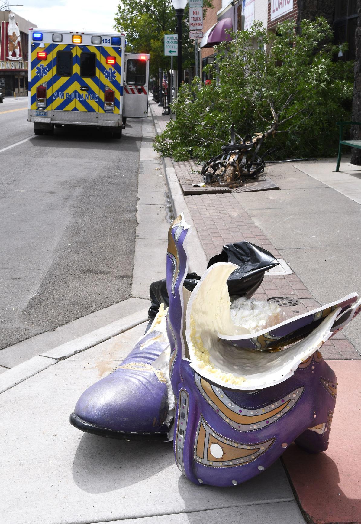 Collision takes out cowboy boot