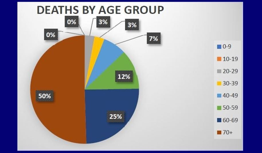COVID-19 deaths in Elko County, by age
