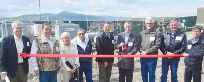 Adobe gas line ribbon cutting