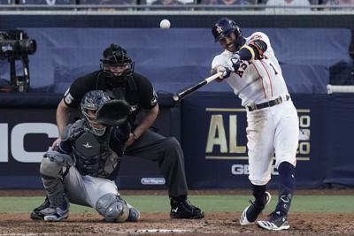CORRECTION ALCS Rays Astros Baseball