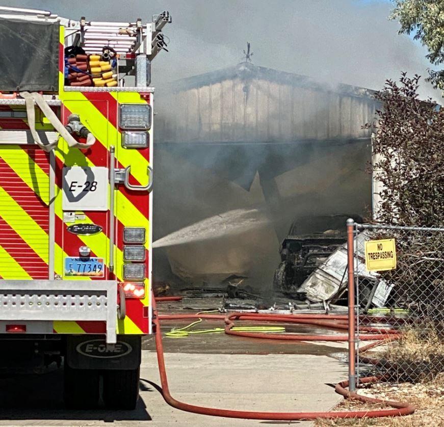 Spring Creek garage fire