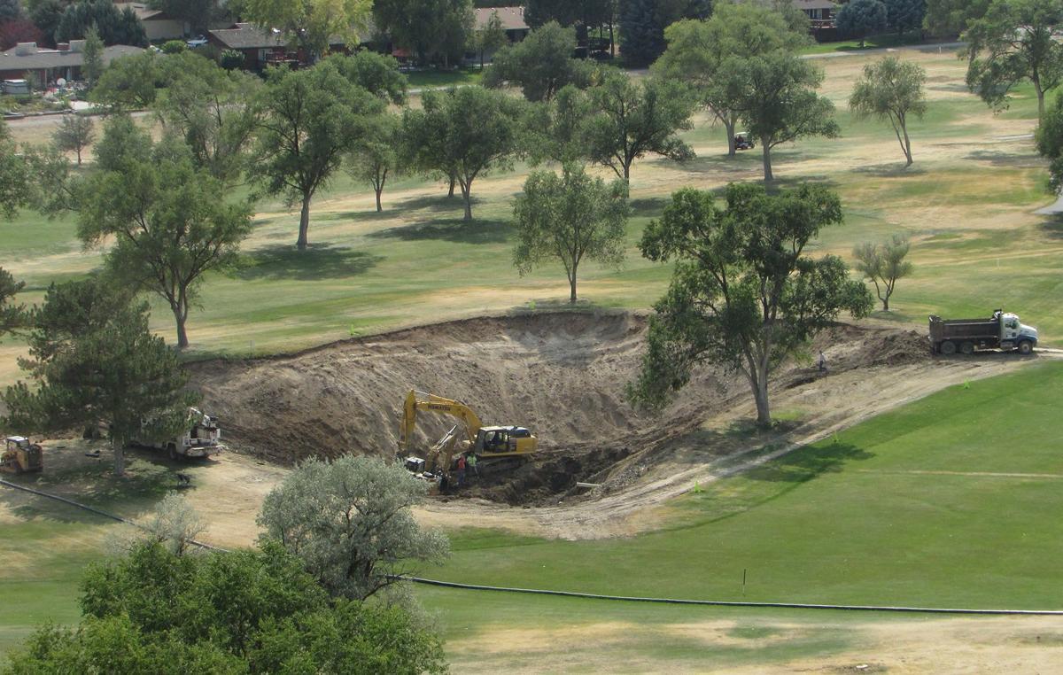 Golf course pond repairs underway