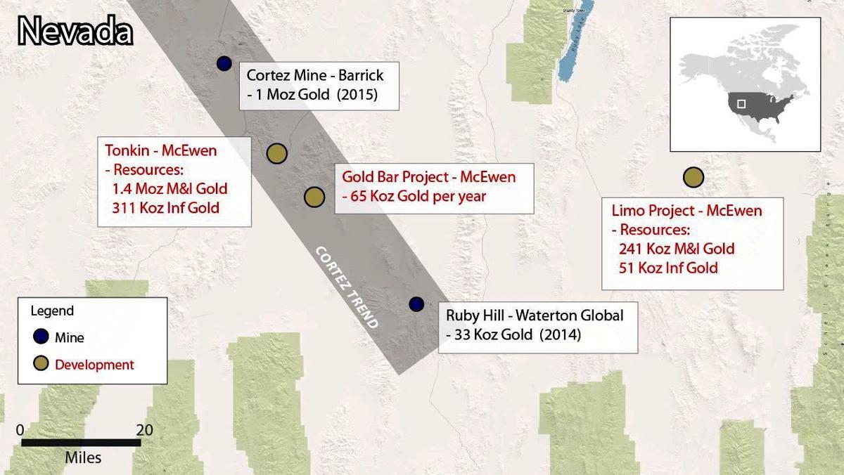 McEwen Mining Gold Bar project