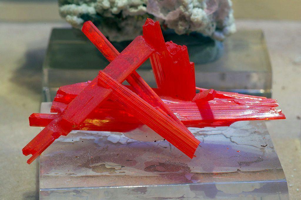 Colorful crystals of crocoite PbCrO4