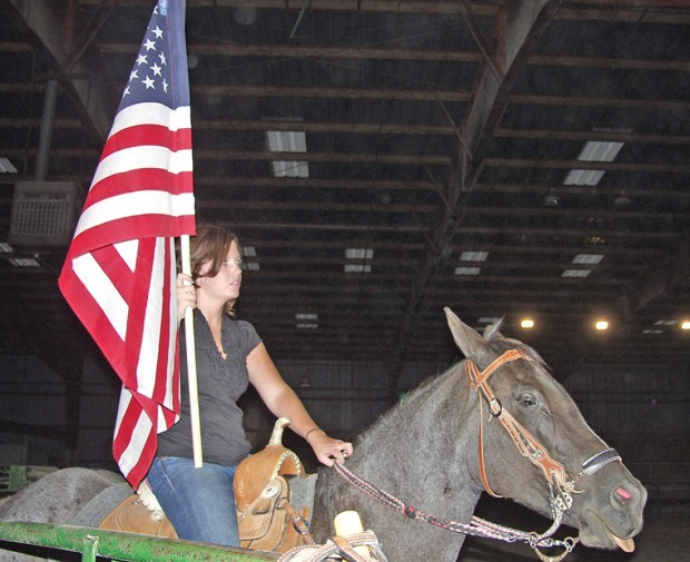 Bronc riding for the troops