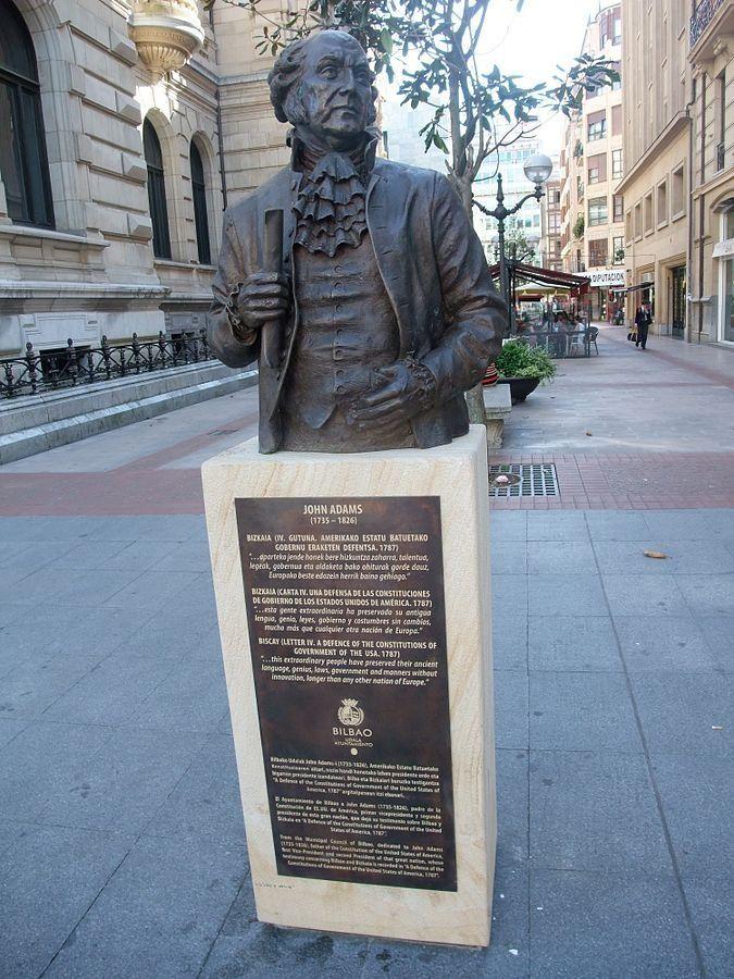 John Adams statue in Bilbao