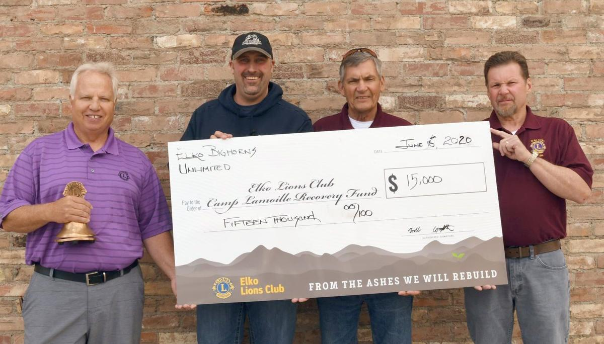 Lion's Club receives fund for Camp Lamoille