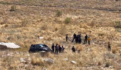 Vehicle rolls off canyon road