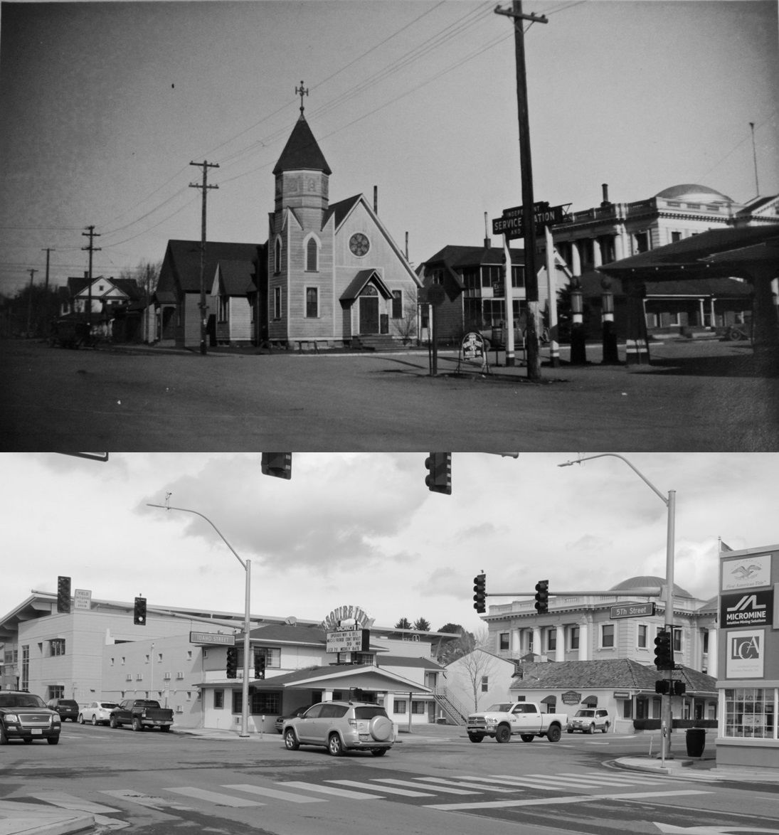 Elko Then and Now: Fifth and Idaho