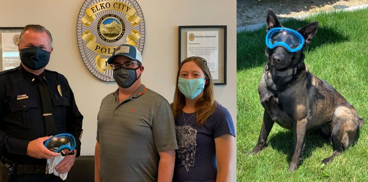Canine goggles donated to EPD