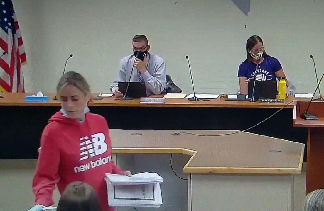 School board meeting halted