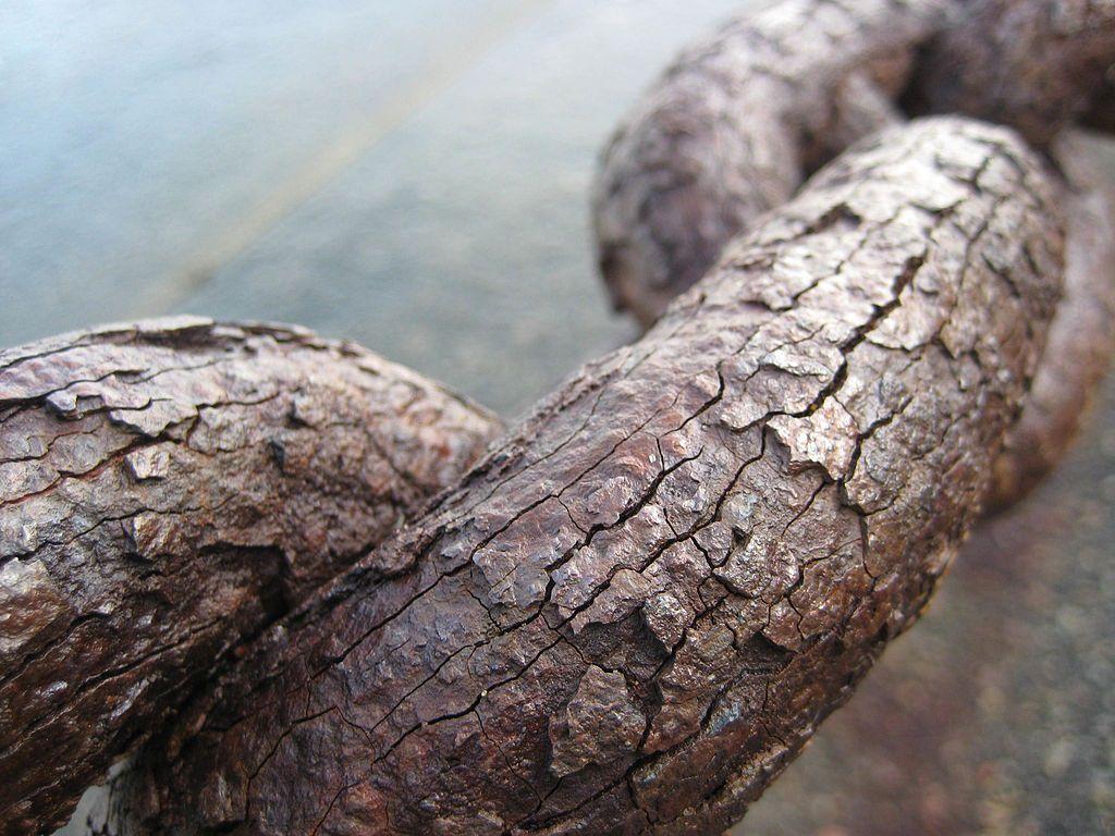 Rusting iron chain