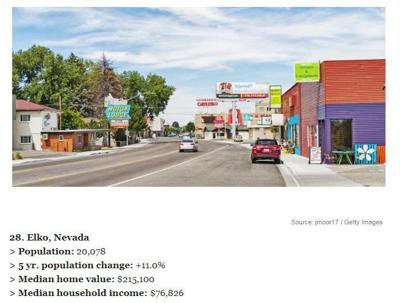 Elko best city to live in Nevada
