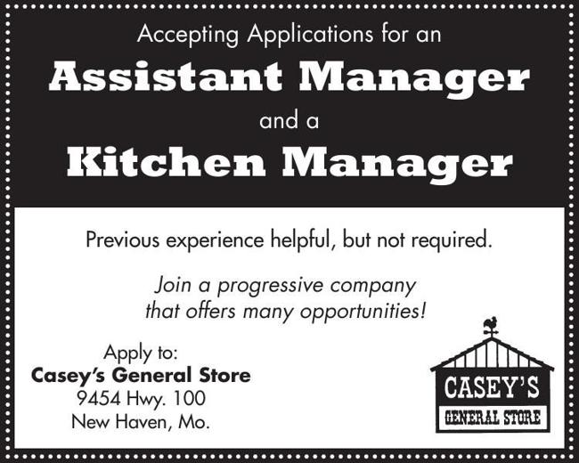 Assistant Manager and Kitchen Manager