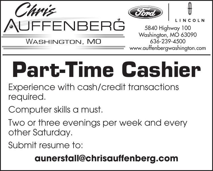 Part-Time Cashier