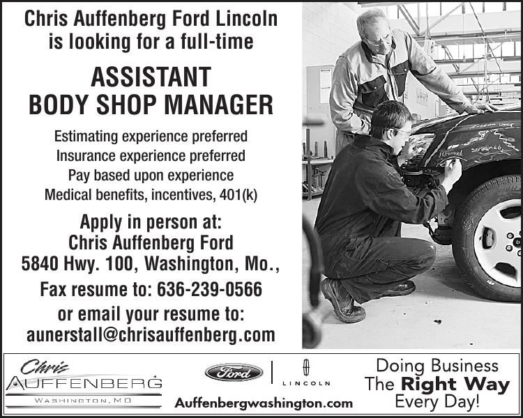 Assistant Body Shop Manager
