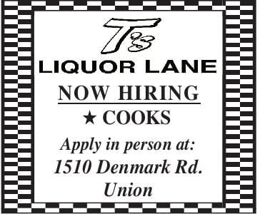Cooks Wanted