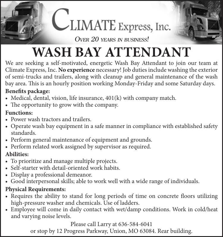 Wash Bay Attendant
