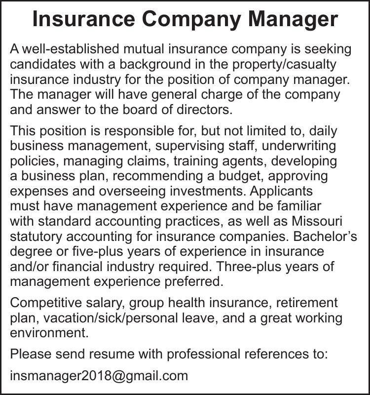Insurance Company Manager