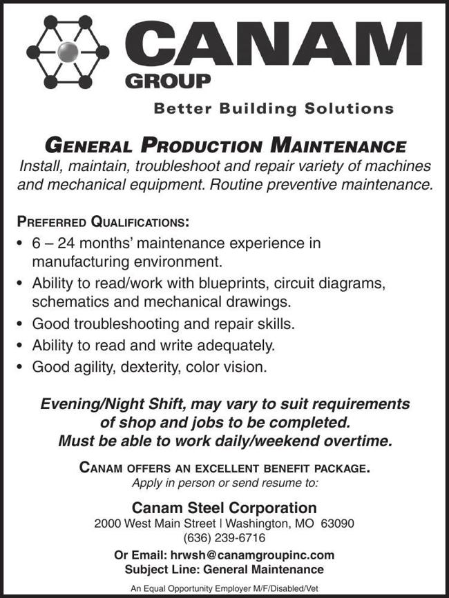 General Production Maintenance