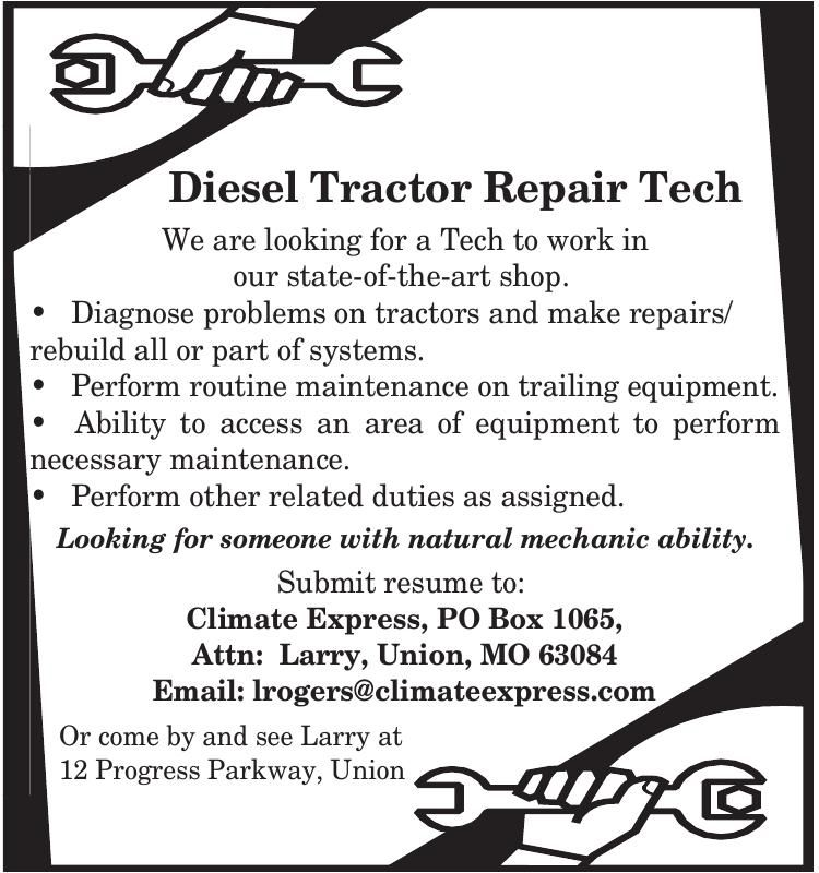 Diesel Tractor Repair Tech