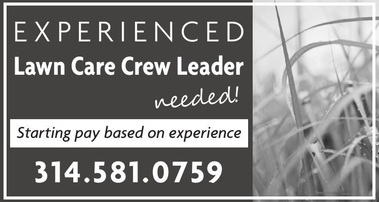 Experienced Lawn Care Crew Leader needed!