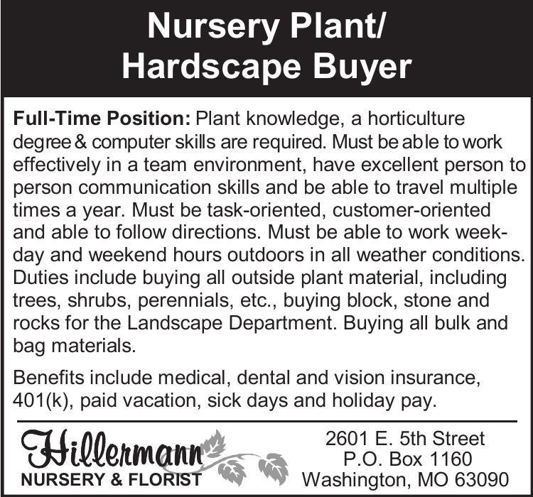 Nursery Plant/Hardscape Buyer