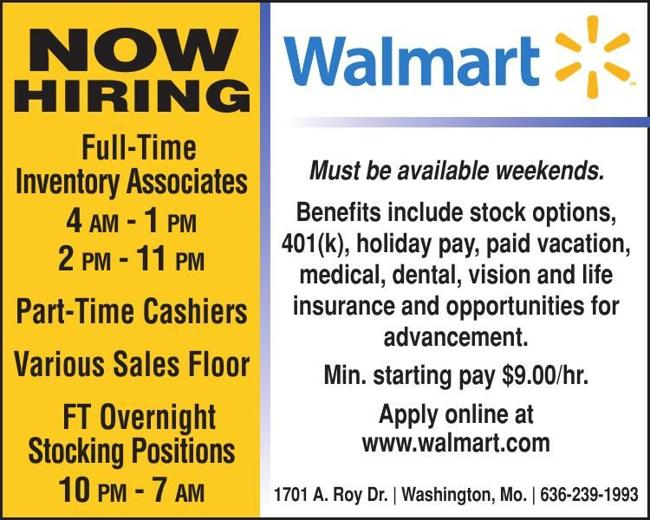 Walmart - Washington - Now Hiring