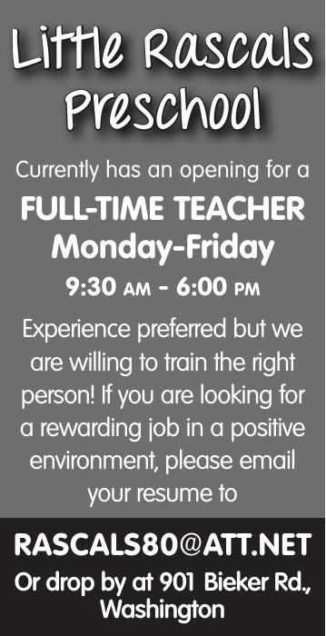 Full Time Preschool Teacher