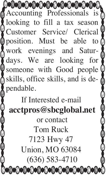 Customer Service/Clerical Position