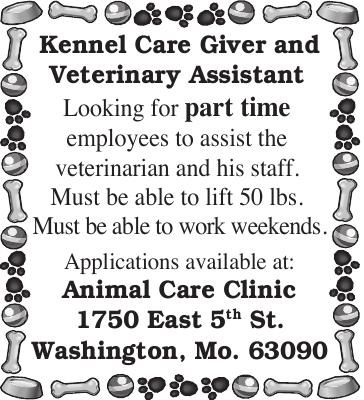 Kennel Care Giver and Veterinary Assistant