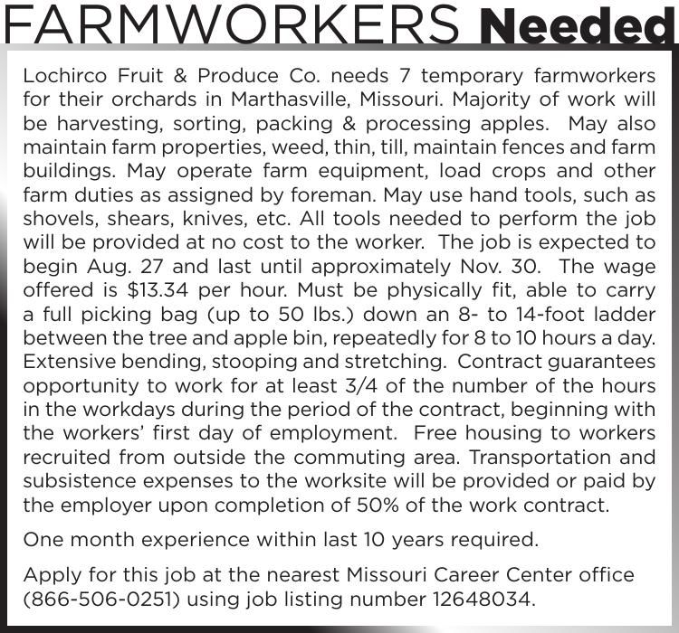 Farmworkers Needed
