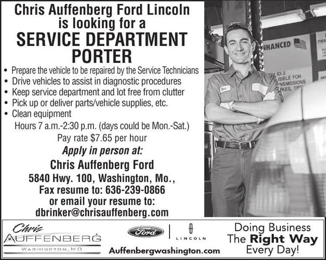 Service Department Porter