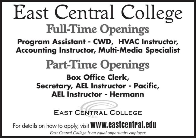 East Central College Now Hiring!