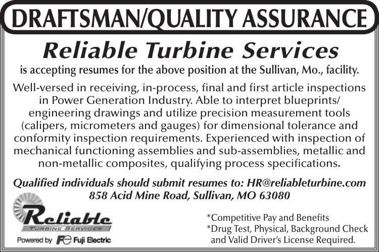 Draftsman/Quality Assurance