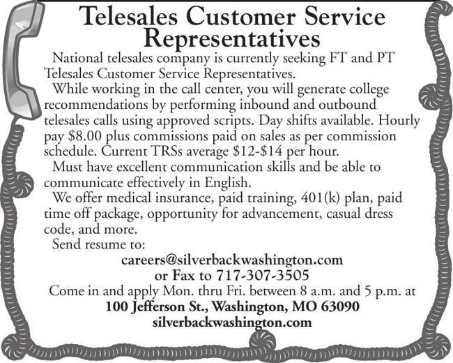 Telesales Customer Service Representatives