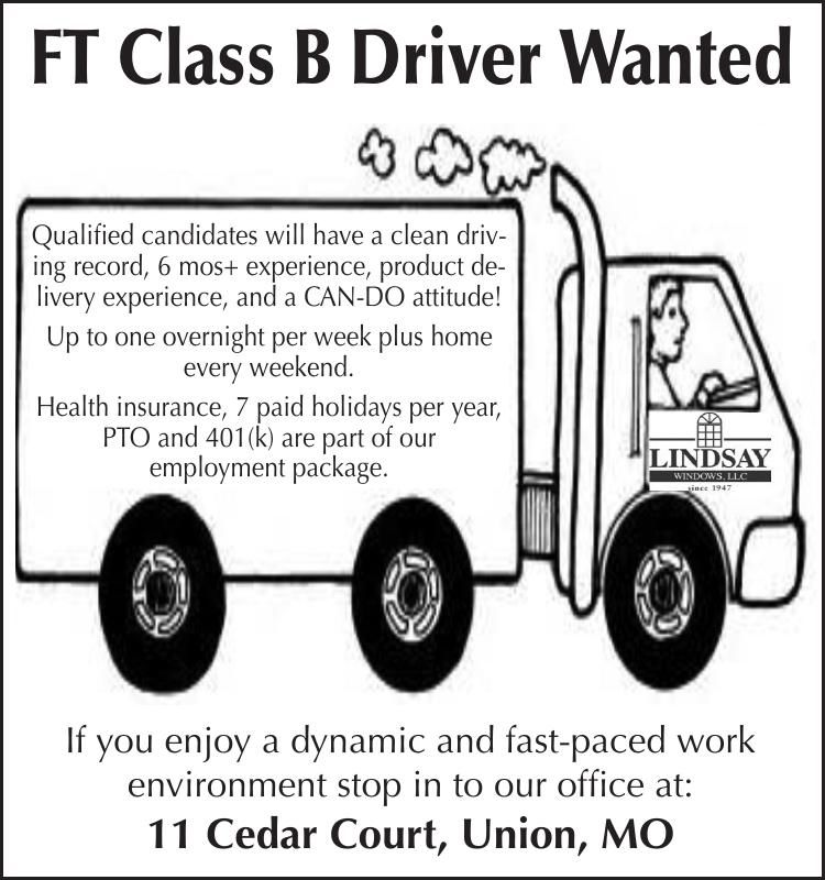 FT Class B Driver Wanted