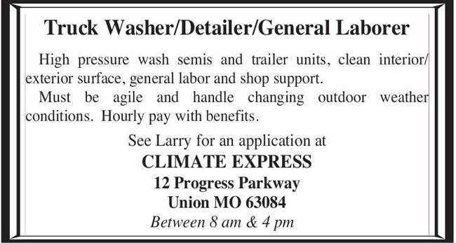 Truck Washer/Detailer/General Laborer