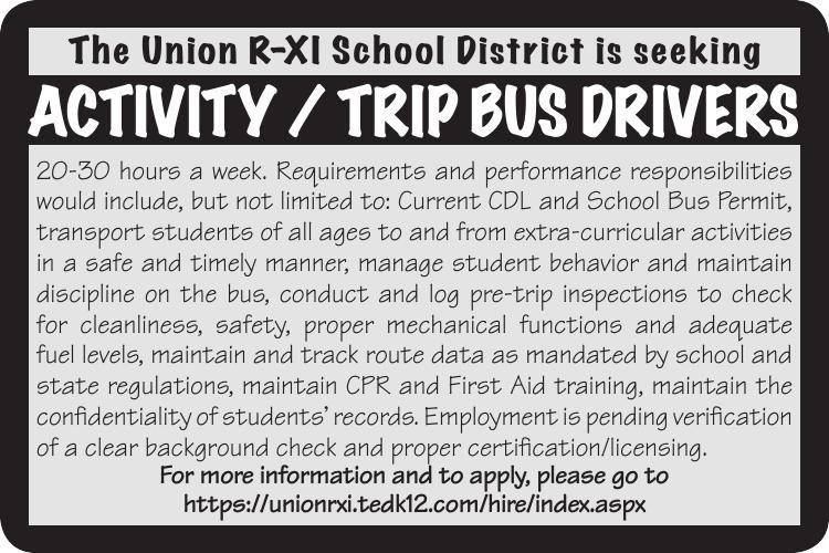 ACTIVITY / TRIP BUS DRIVERS