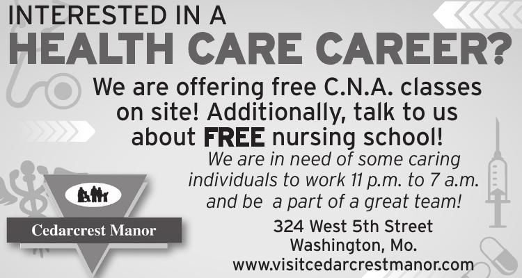 INTERESTED IN A HEALTH CARE CAREER?