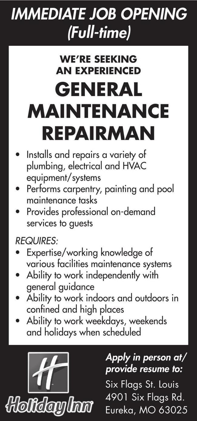 General Maintenance Repairman