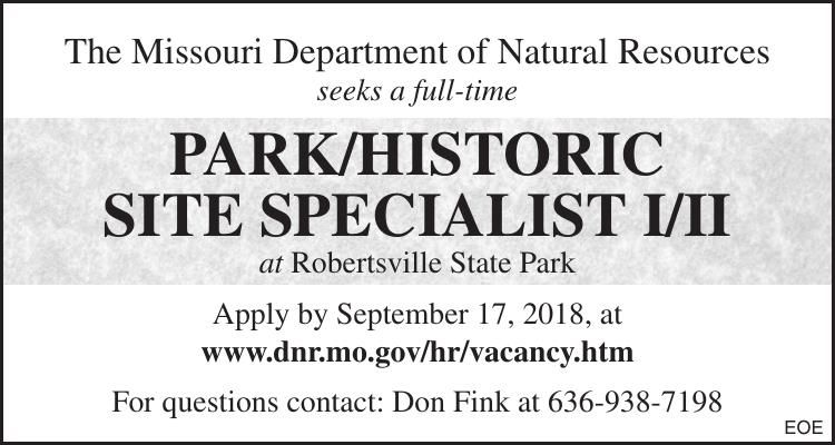 PARK/HISTORIC SITE SPECIALIST I/II