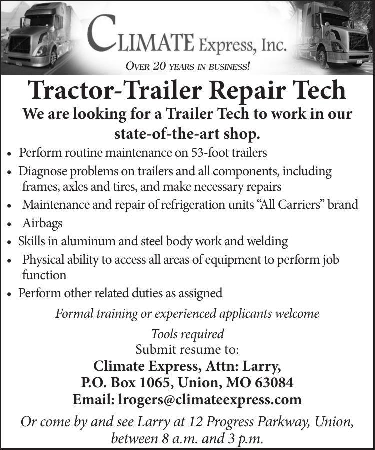 Tractor-Trailer Repair Tech