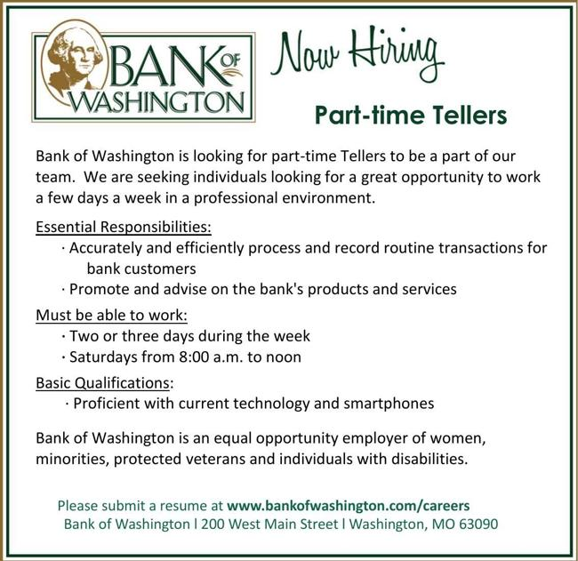 Part-time Tellers