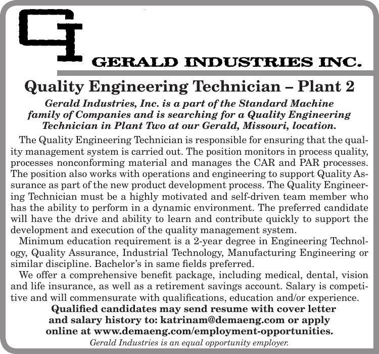Quality Engineering Technician