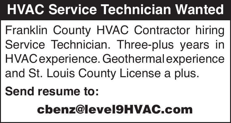 HVAC Service Technician Wanted