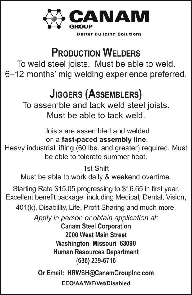 Production Welders & Jiggers
