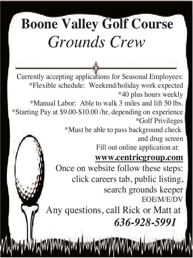 Seasonal Employees for Golf Course