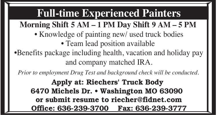 Experienced Auto Painters