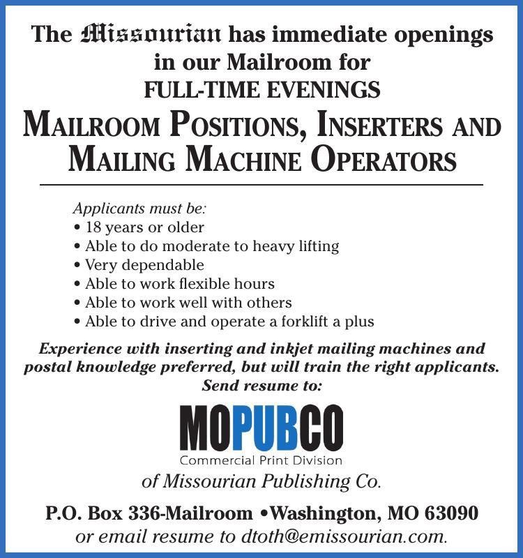 Mailroom Positions